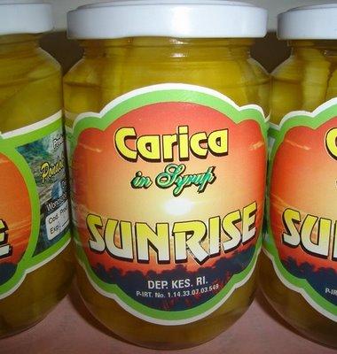 Carica Syrup, oleh-oleh khas dataran tinggi Dieng (panasdingin18.blogspot.com)
