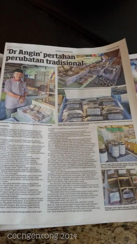Pemberitaan tentang Dr. Angin, Awang Damit bin Jahar