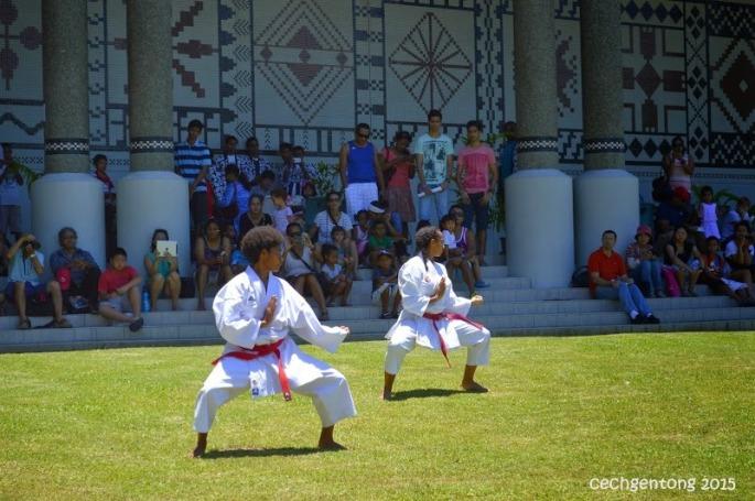 Aksi 2 karateka asal Fiji