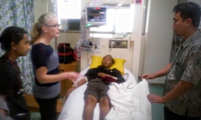 ABK Indonesia yang mengidap sakit parah dan berhasil diselamatkan dan sembuh kembali (dok. Cech)